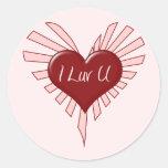 I Luv You Valentine Sticker