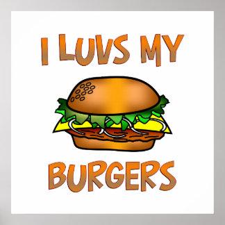 I Luvs Burgers Poster