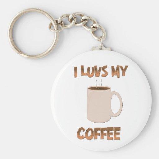 I Luvs Coffee Keychain