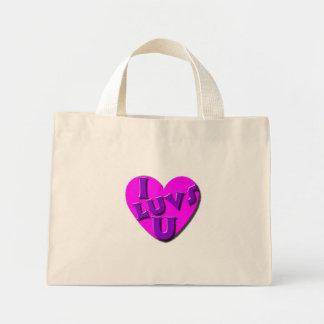 I Luvs U totebag Mini Tote Bag