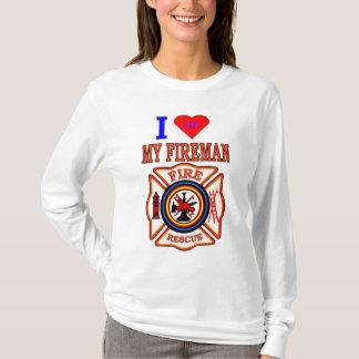 I LUY MY FIREMAN T-Shirt