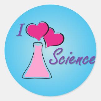 I LV Science Classic Round Sticker