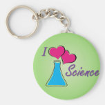 I LV Science Keychains