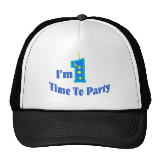 I m 1 Time To Party blue Mesh Hat