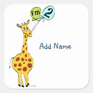 i m 2 square sticker