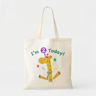 I m 2 Today Toddler s 2nd Birthday Canvas Bag