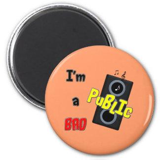 I'm a bad public speaker fridge magnet