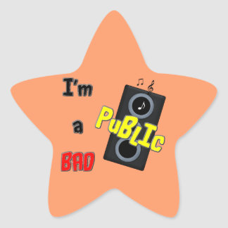 I'm a bad public speaker sticker