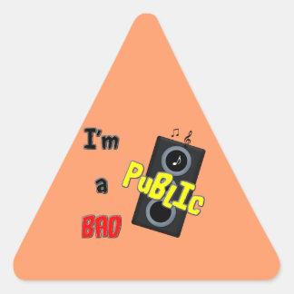 I'm a bad public speaker stickers