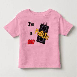 I'm a bad public speaker toddler t-shirt