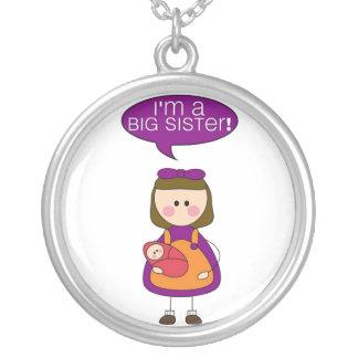 i m a big sister baby sister pendant
