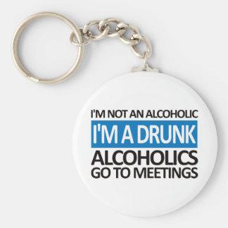 I m A Drunk - Blue Keychains