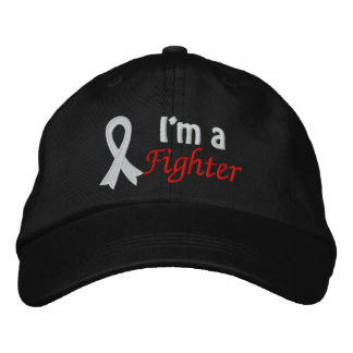 I m a Fighter - Lung Cancer Embroidered Baseball Cap