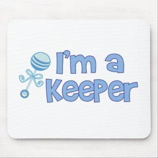 I m a keeper new baby boy mouse mat