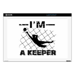 I'm a Keeper – Soccer Goalkeeper designs Decal For Laptop
