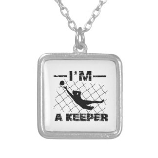 I'm a Keeper – Soccer Goalkeeper designs Silver Plated Necklace