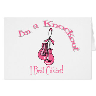 I m A Knockout I Beat Breast Cancer Cards