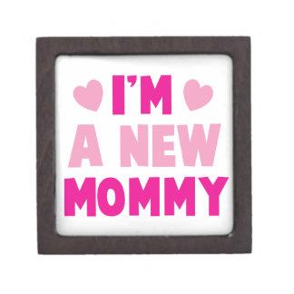 I m a NEW MOMMY Premium Trinket Boxes