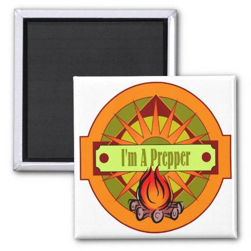 I`m A Prepper 2 Inch Square Magnet