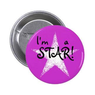 I m a STAR Purple Pinback Buttons