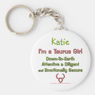 I m a Taurus Girl Personalized Zodiac Keychain