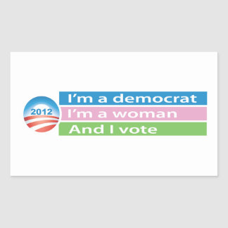 I m a Woman and I Vote Stickers