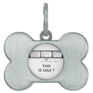 I M A X Computer Terminal Pet Tag