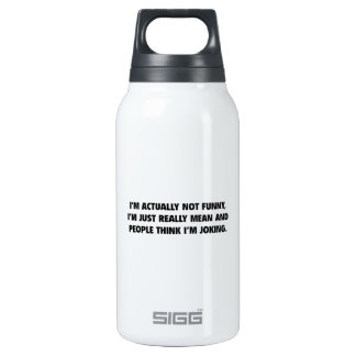 I'm Actually Not Funny Insulated Water Bottle