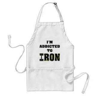 I'm Addicted To Iron Weightlifting 2 Adult Apron