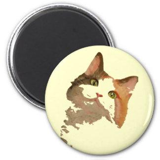 I'm All Ears – Cute Calico Cat Portrait Magnet