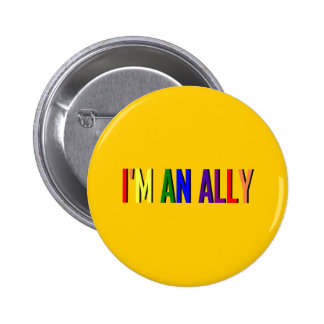 I m an Ally Round Button