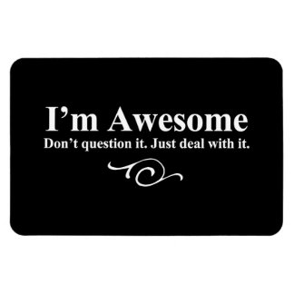 I m awesome Don t question it Just deal with it Vinyl Magnet