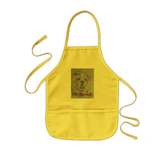 I,m Bored!. Bulldog. Kids' Apron