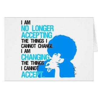 I'm Changing Things Greeting Card