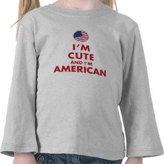 I'M CUTE AND I'M AMERICAN TSHIRTS