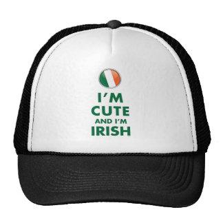 I'M CUTE AND I'M IRISH TRUCKER HAT