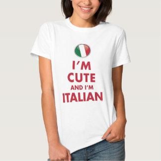 I'M CUTE AND I'M ITALIAN T-SHIRT