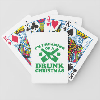 I'm Dreaming Of A Drunk Christmas Bicycle Playing Cards