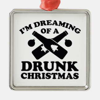 I'm Dreaming Of A Drunk Christmas Christmas Ornaments