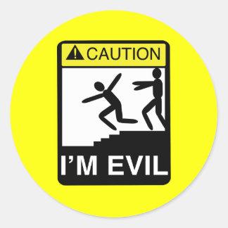 I m Evil Round Sticker