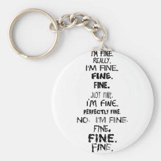 I m Fine Key Chains