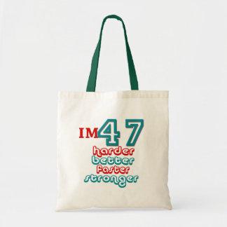 I m Fourty Seven Harder Better Faster Stronger B Tote Bag