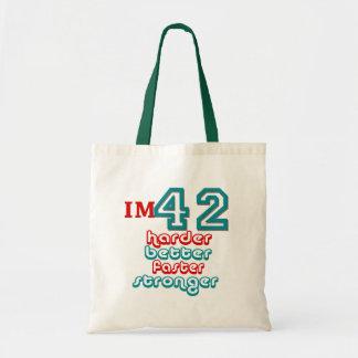 I m Fourty Two Harder Better Faster Stronger Bir Tote Bag
