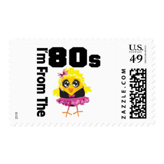 I m From the 80s Chick Postage Stamp