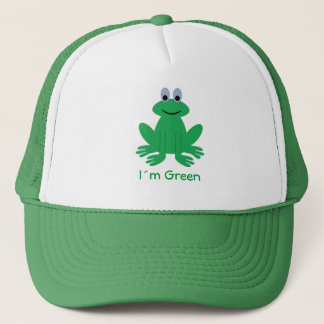 I´m Green cartoon frog cap
