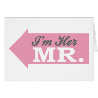 I m Her Mr Pink Arrow Cards