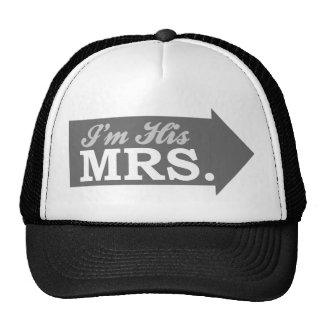 I m His Mrs Gray Arrow Mesh Hats