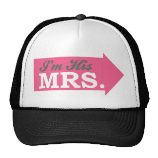 I m His Mrs Hot Pink Arrow Mesh Hat