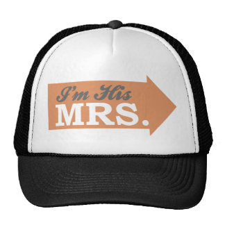I m His Mrs Orange Arrow Trucker Hat