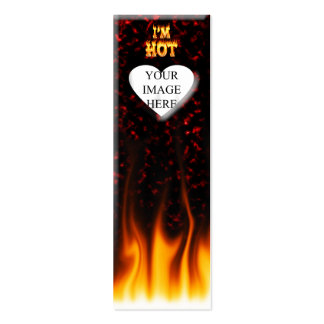 I m hot fire and flames business card templates
